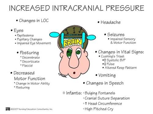 Increased Intracranial Pressure. Get trained! Toll-free 844-900-SAFE (7233) or www.safetytrainingpros.com 'Like' us on Facebook at https://www.facebook.com/SafetyTrainingPros