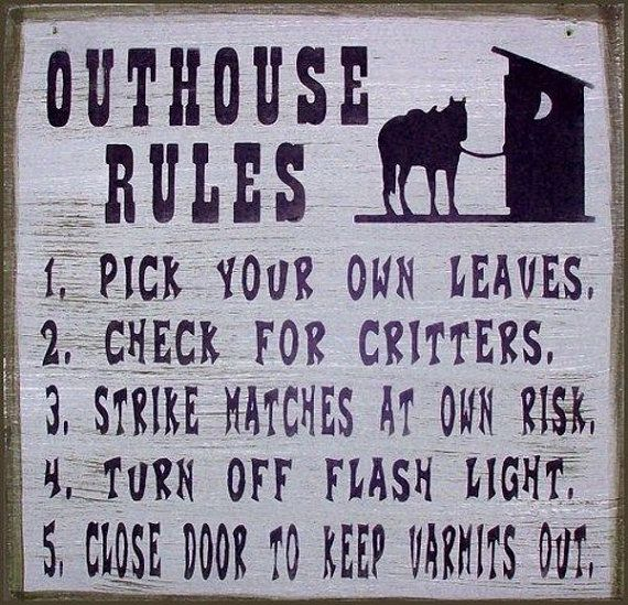 Meanwhile, Back at the Outhouse by Lisa Wells on Etsy