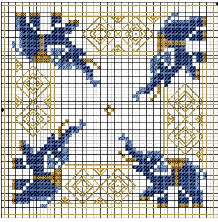 Elephant cross stitch chart