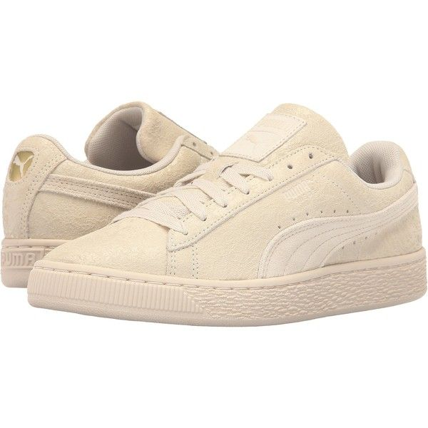 PUMA Suede Remaster (Birch/Birch) Women's Basketball Shoes (775 ARS) ❤ liked on Polyvore featuring shoes, blue, puma footwear, peak shoes, 80s footwear, 1980s shoes and cushioned shoes