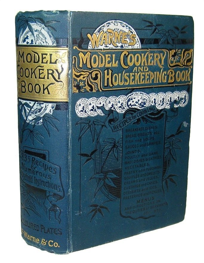1890 ANTIQUE COOK BOOK VICTORIAN COOKERY & HOUSEHOLD HOME CONFECTIONERY PASTRY
