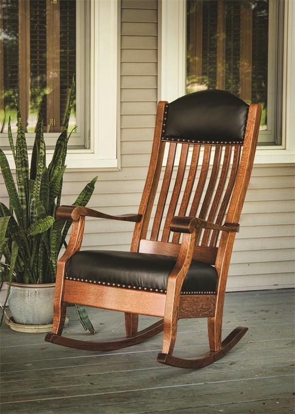 Amish Shackleton Wide Rocking Chair with Optional Footstool
