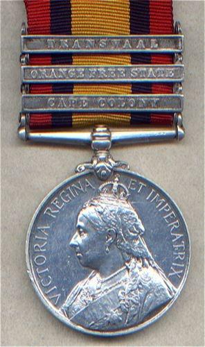 Medal Queens South Africa medal 3 bars Grenadier guards  4411 Pte R. Brooks Grenadier Guards Bars: Cape Colony, Orange Free state,Transvaal,