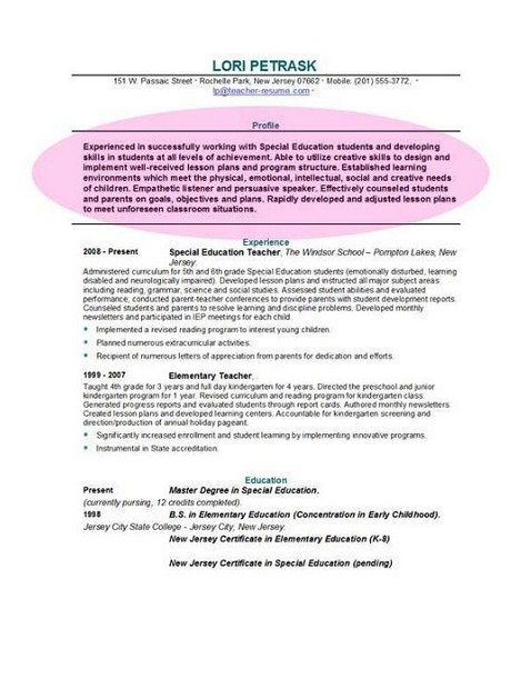 Resume Interest And Activities Example