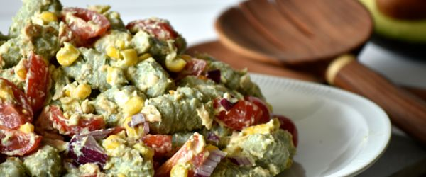 Angelo's Fresh Pasta Products | Avocado, Salmon and Potato Gnocchi Salad by Shelley Judge