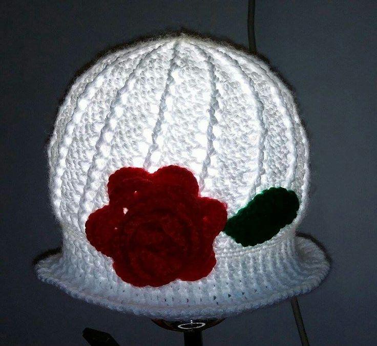 Crocheted hat