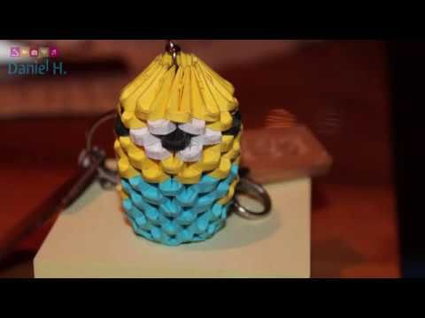 Take a breather and catch up with my video💥 3D Origami MINION  keychain tutorial video https://youtube.com/watch?v=K7LIj2rqKF4