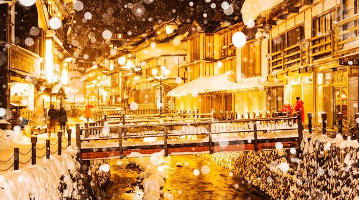 金色に輝く!雪の銀山温泉が幻想的すぎる・・・ | TABI LABO