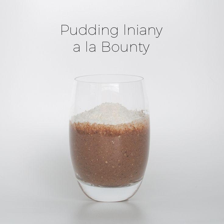 Wegański pudding z siemienia lnianego o smaku Bounty.