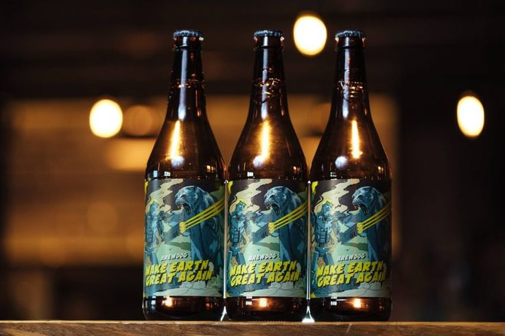 """Brewdog launches new beer designed to """"remind leaders to prioritise Climate Change issues"""" https://www.dezeen.com/2017/11/11/make-earth-great-again-brewdog-beer-donald-trump-paris-agreement-climate-change-design/?utm_content=buffer5fb0c&utm_medium=social&utm_source=pinterest.com&utm_campaign=buffer"""