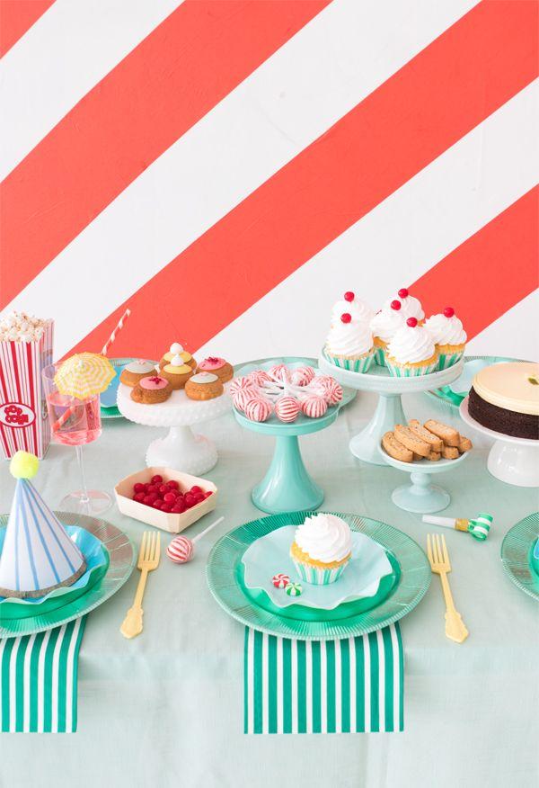 Bunte Tischdeko L Kaffeeklatsch Geburtstag How To Throw A Stripes Party