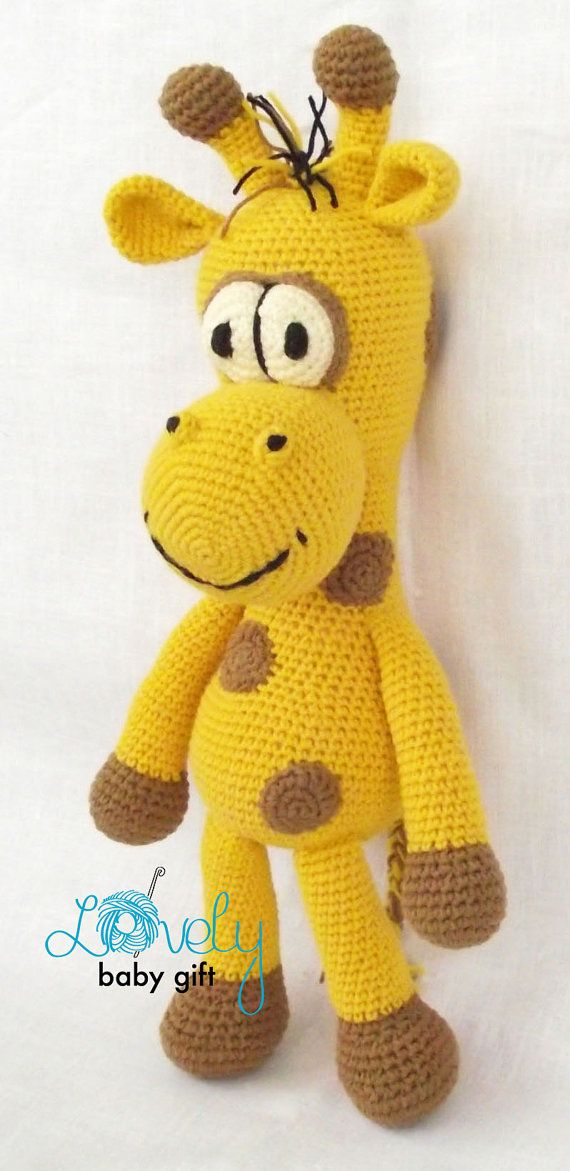 This is crochet pattern and NOT the finished giraffe toy. Crochet pattern can be downloaded immediately from Etsy once payment is confirmed.  Pattern is written in ENGLISH (in US terms), DANISH, DUTCH, GERMAN and FRENCH languages. This amigurumi giraffe is easy to make, if you know all the basic crochet terms: - crocheting in rounds - chain, slip, single crochet, double crochet stitches - increasing and decreasing  Tutorial comes with lots of photos illustrating the process to help you…