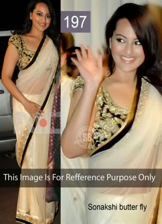 Dazzling Cream Net Patch Border Bollywood Saree http://www.angelnx.com/