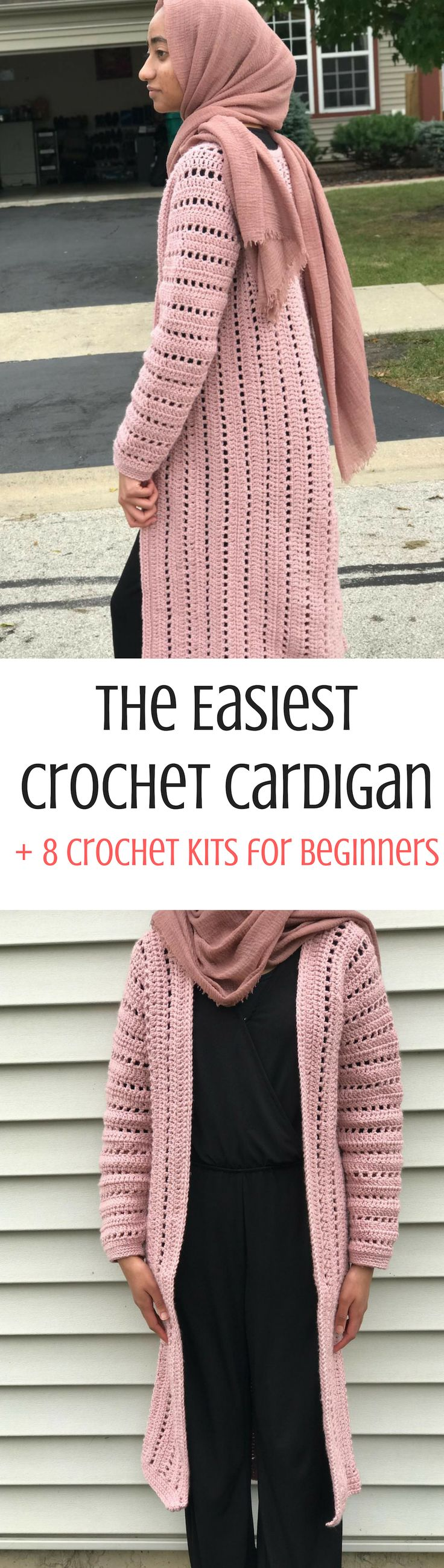 Are you a crochet beginner? Here's a crochet cardigan pattern that is so eas…