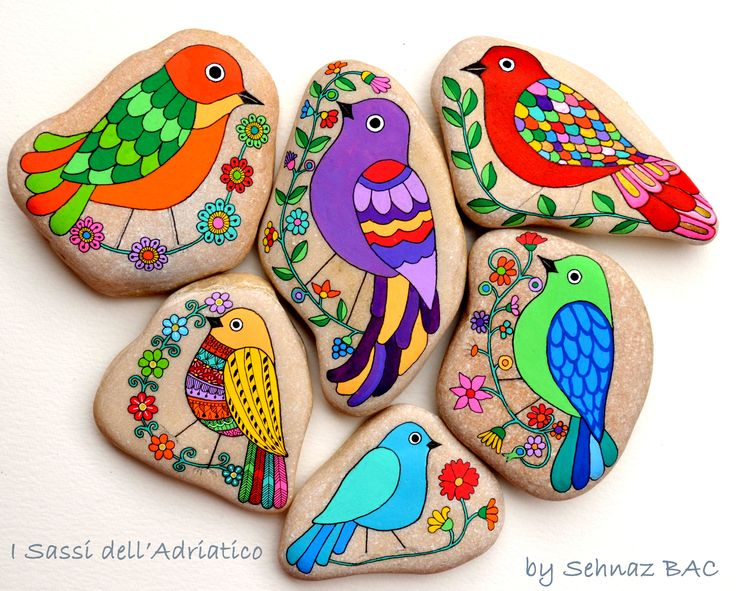 new birds all together . #paintedstones