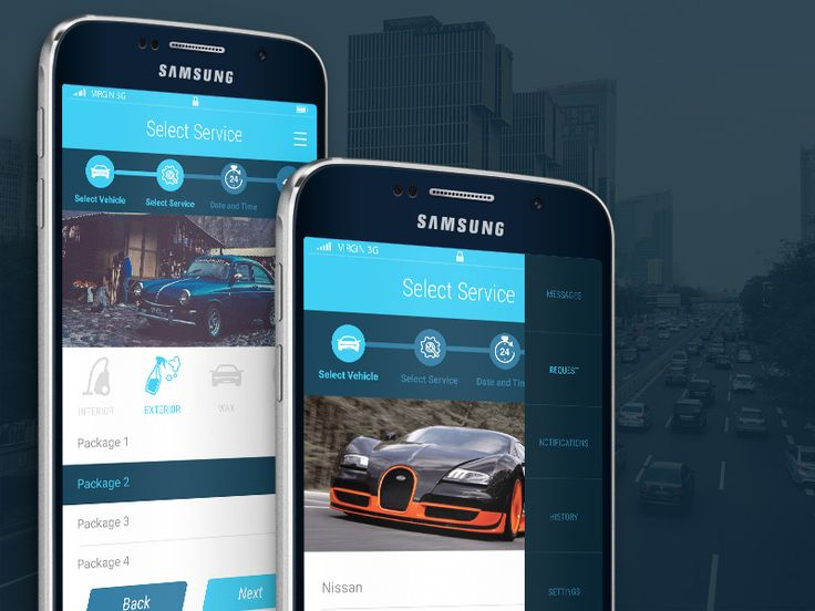 Car Wash App UI  by Umair Ulhaque