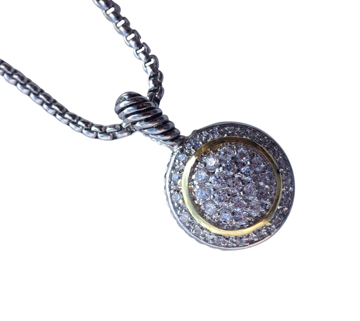 """16"""" + EXT Crystal & Rhinestone Circle Pendant Necklace Retail - $31.25 You Pay - $15.63 w/ free shipping in the US."""