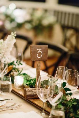 Driftwood Table Numbers - Lovebird Weddings, Noosa Australia