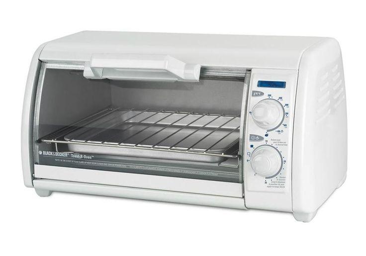 Black & Decker TRO420 Toaster Oven, 4 Slice, 1200 Watts, White