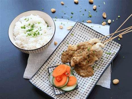 Chicken zatay med inlagda grönsaker