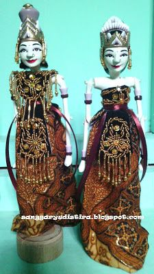 wayang golek rama & sinta ukuran mini buat souvenir : jasa pembuatan & pengrajin wayang golek sanggar yudistira
