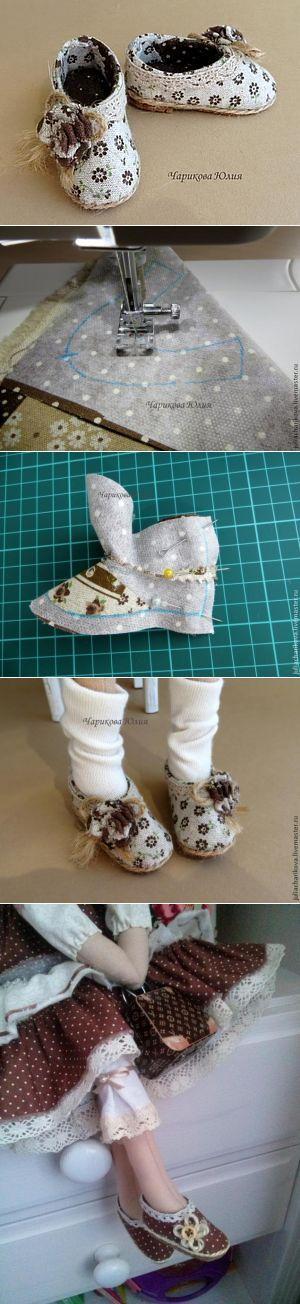 Мастерим туфли (с выкройкой) для Тильды - Ярмарка Мастеров - ручная работа, handmade