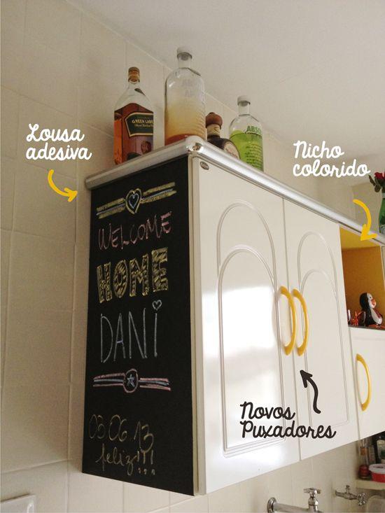 Decorviva! - Inspiração no tom da decoração.: Usando adesivos com criatividade na cozinha!