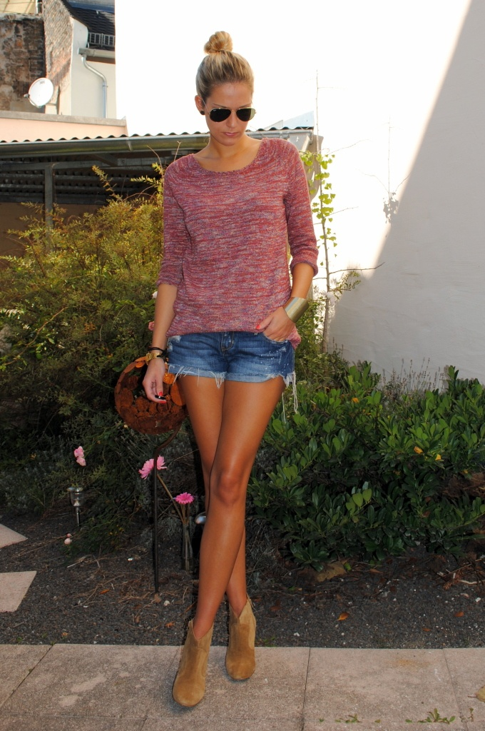 Tanned and casual