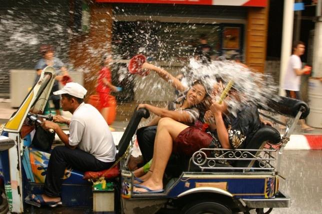 You should avoid taking Tuk-tuk during Songkran season :D
