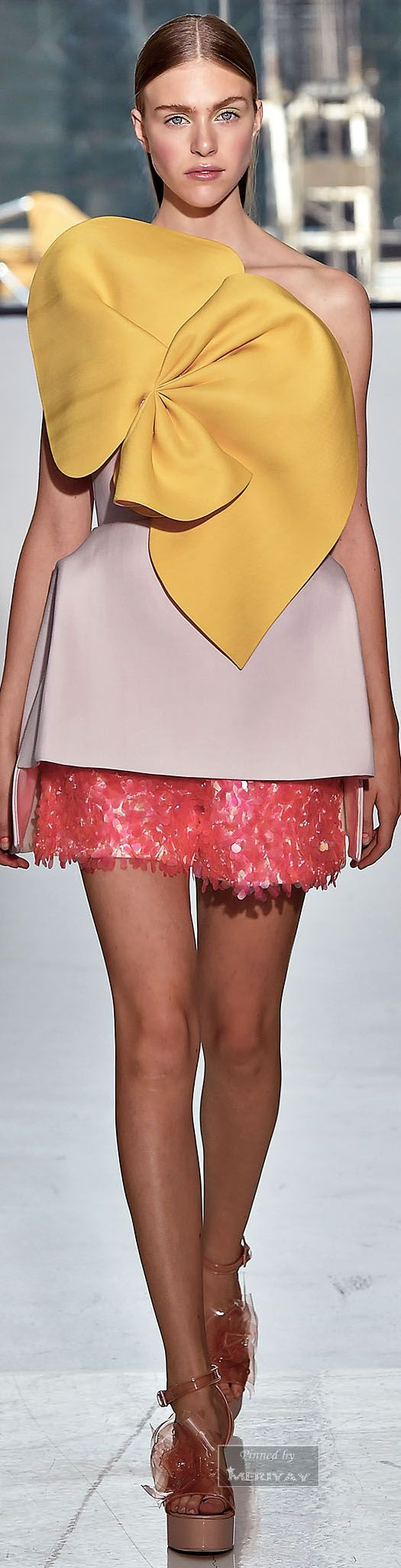Delpozo.Spring 2015. Bow or flower?  I believe this is more bow like.