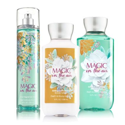 Bath & Body Works Magic in the Air fragrances with notes of white iris, almond flower and whipped vanilla
