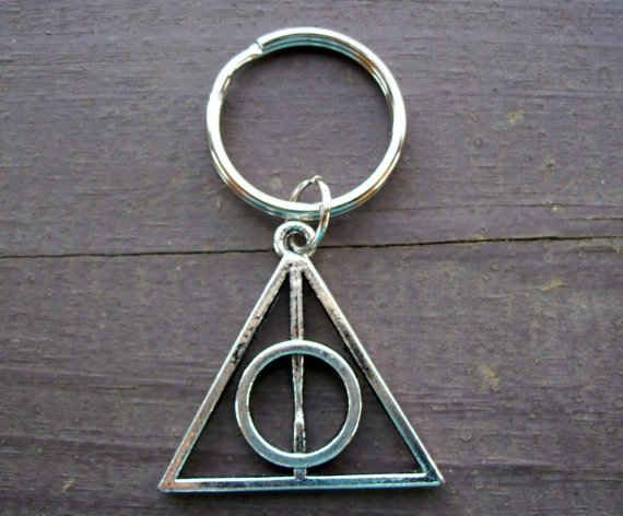 Deathly Hallows Key Ring, $5 | 56 Totally Wearable Harry Potter-Themed Accessories