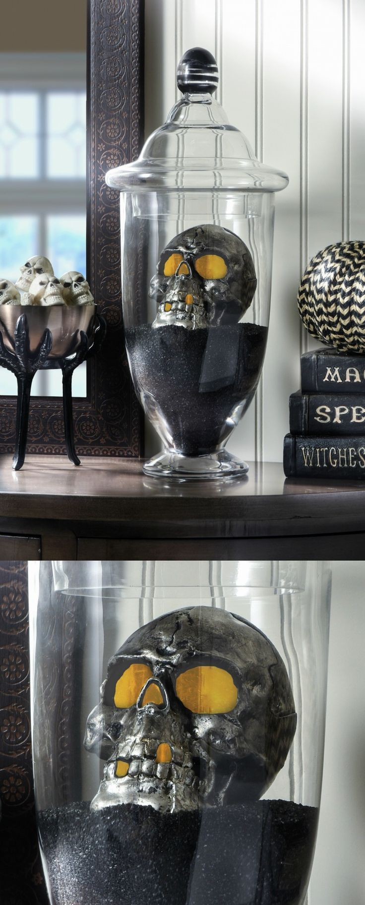 DIY Halloween Spooky Skull Display