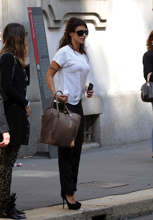 Elisabetta Canalis Is All Smiles In Milan
