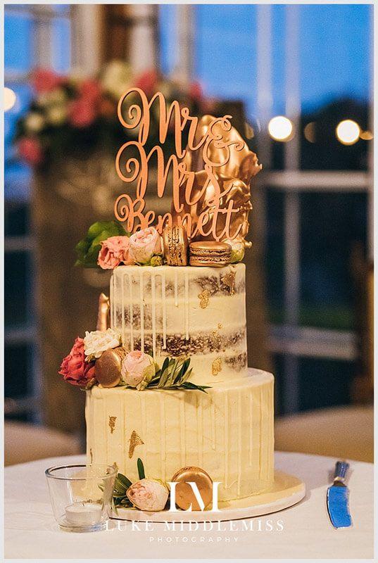 Naked Wedding Cake // Maleny Manor - Sunshine Coast // Wedding DJ G&M Event Group #GMEventGroup #DJBrianDavis #Wedding #SunshineCoastWedding