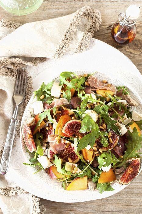 Receitas de Natal - salada de carpaccio com figo