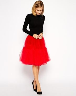 Tulle midi skirt!  So fun!