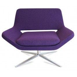 Bon Modern Lounge Chairs, Purple.