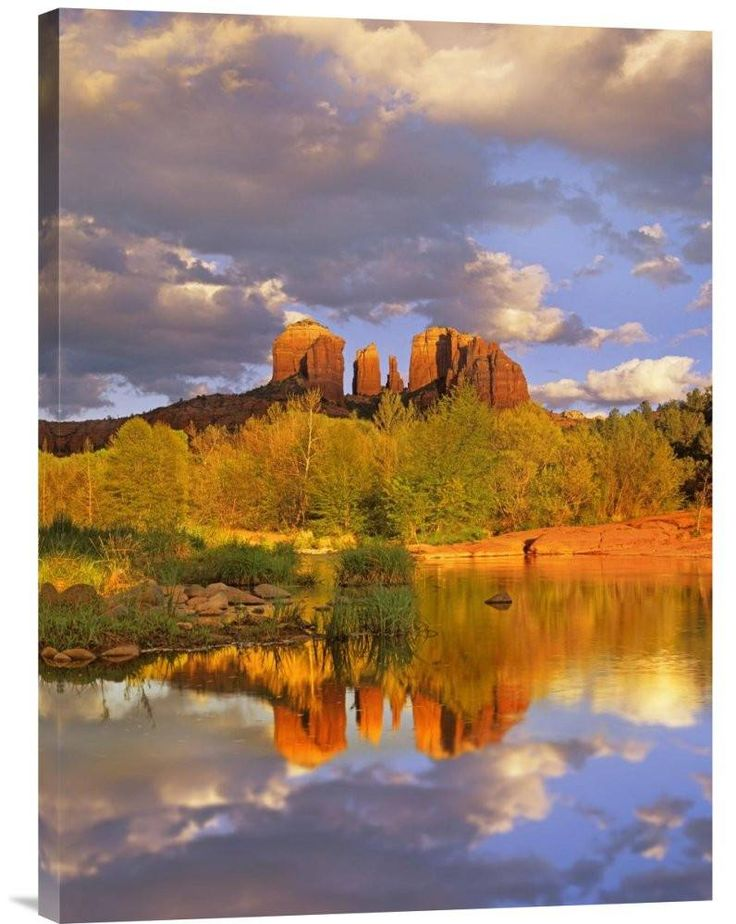 Cathedral Rock Reflected in Oak Creek