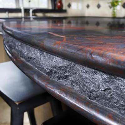 Iron Red Granite Countertop What An Amazing Edge Detail