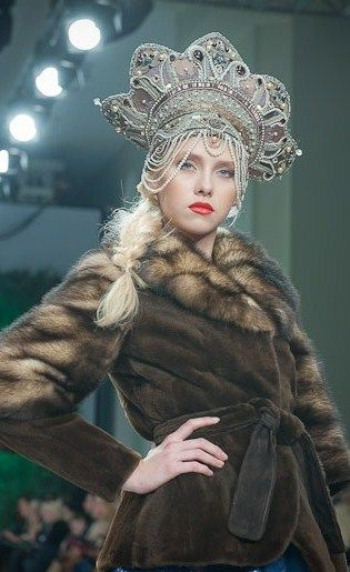 À la russe... Stunning (crown and fur?) yes makes for a Billionaire Babe...$$$ BellaDonna