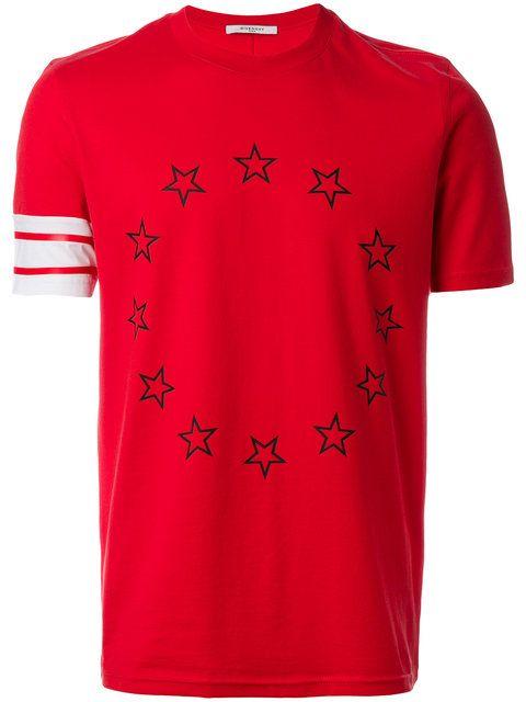 13e38d2e10 GIVENCHY Stars And Stripe Print T-Shirt. #givenchy #cloth #t-shirt ...