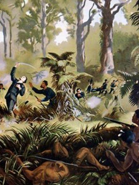 Death of Major Gustavus von Tempsky, 1st Taranaki War, New Zealand, 1845