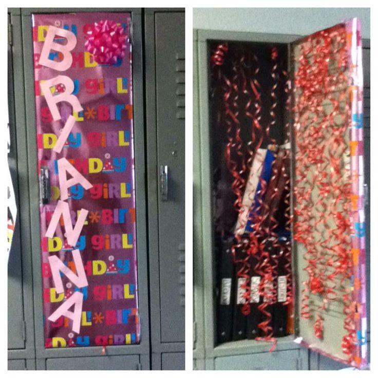Decorated my friend Brianna's locker for her birthday.