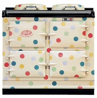 polka dot oven! I think I need one.  So fashionable! ;-)