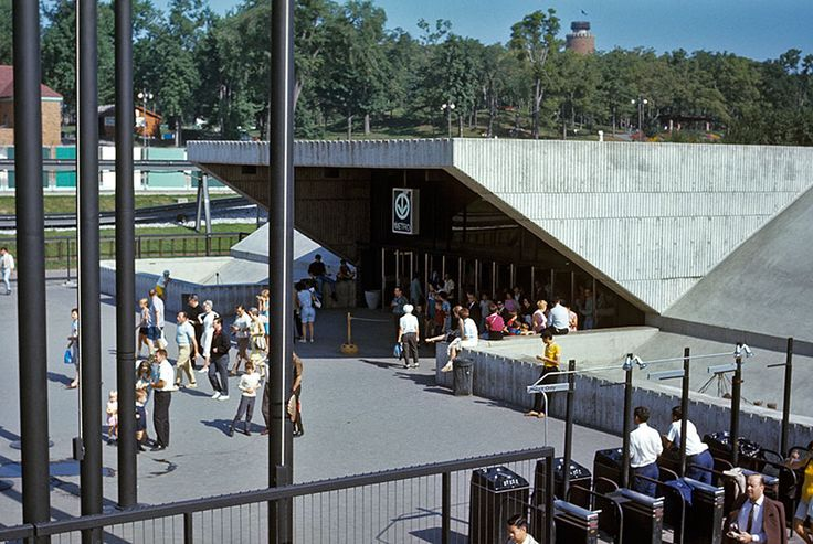 August 29, 1967 to be precise. Minirail station at Transportation Plaza