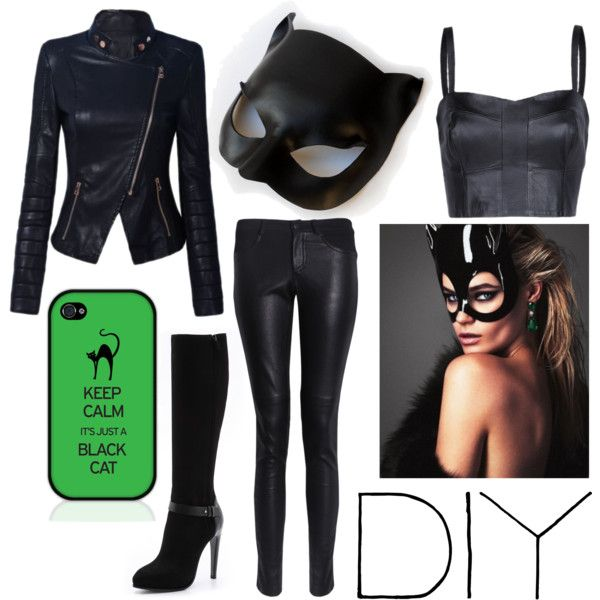 "This would actually be a great cat woman costume!!!  ""cat woman"" by paows on Polyvore"