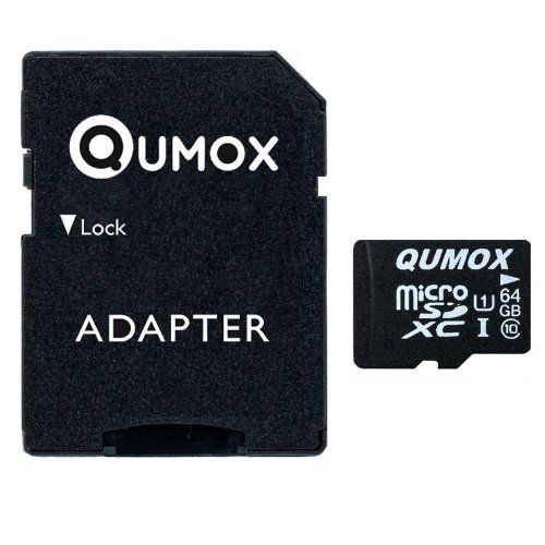 QUMOX Speicherkarte MicroSDXC 64GB UHS-I Grade 1 Class 10 mit SD Adapter für Smartphones und Tablets - http://kameras-kaufen.de/qumox/64-gb-qumox-32gb-micro-sd-memory-card-class-10-uhs-i-s