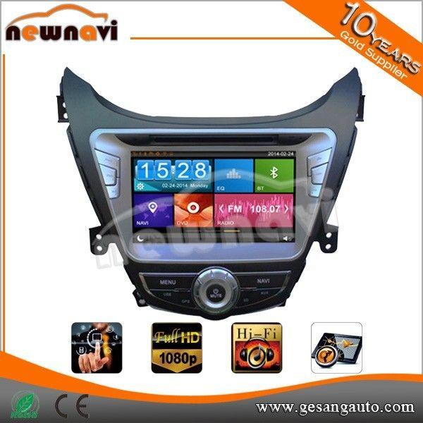 Special 2din 8inch capacitive touch screen Car stereo with GPS for HYUNDAI Elantra 2011 /AVANTE 2014
