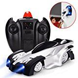 Remote device Car Wall Climber RC Vehicle  J-DEAL Mini Climbing Automobile with Radio Control Dual Setting 360Â Rotating Stunt Car House Gravity Toy Car Children Sports activity Racing Vehicle Rechargeable Kids Elec